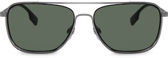 Burberry Eyewear Top-Bar Aviator Sunglasses