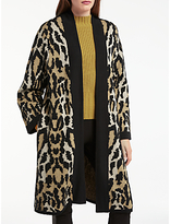 Somerset by Alice Temperley Leopard Print Cardigan, Natural