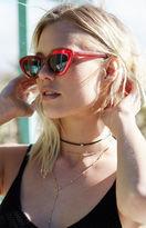 La Hearts Red Cat-Eye Sunglasses