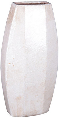 Privilege Large Vase, White Finish