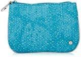 Stephanie Johnson Medium Flat Cosmetic Pouch, Laguna Turquoise
