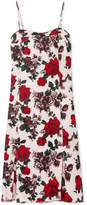 Equipment Kelby Floral-print Washed-silk Midi Dress - Red