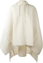 Craig Green quilted hooded poncho