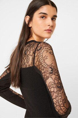 French Connection Odelia Lace Tobey V Neck Dress