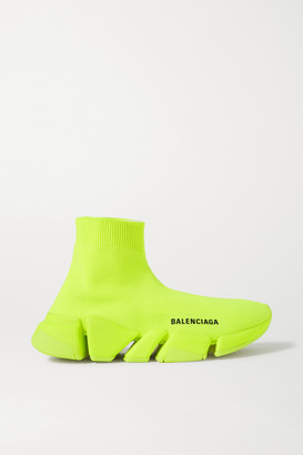 Balenciaga Speed 2.0 Stretch-knit High-top Sneakers - Yellow