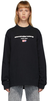 Alexander Wang Black Flag Graphic Long Sleeve T-Shirt