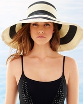 Soma Intimates Breton Packable Large Brim Striped Straw Hat