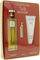 Elizabeth Arden FIFTH AVENUE by Gift Set for WOMEN: EAU DE PARFUM SPRAY 4.2 OZ & BODY LOTION 3.3 OZ & PARFUM .12 OZ MINI