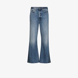 KHAITE Layla cropped flared jeans