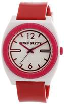Miss Sixty Ladies Watch Stu011 In Collection Vintage, 3 H and S, White Dial and Red Strap