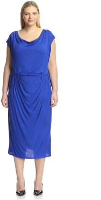 Melissa Masse Plus Women's Cowl Neck Dress
