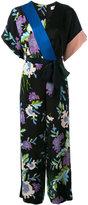 Diane von Furstenberg floral print belted jumpsuit - women - Silk/Polyester/Triacetate - 2