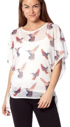 M&Co Izabel hummingbird print tee