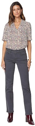 NYDJ Marilyn Straight Jeans in Vintage Pewter (Vintage Pewter) Women's Jeans
