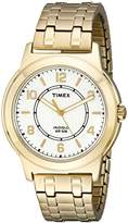 Timex Men's TW2P62000 Bank Street Gold-Tone Stainless Steel Expansion Band Watch