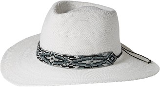 Ale By Alessandra Women's Shelby Woven Toyo Sunhat with Beaded Trim