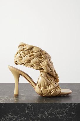 Bottega Veneta Intrecciato Leather Slingback Sandals - Cream