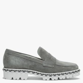 Kennel + Schmenger Whitley Grey Suede Studded Loafers