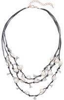 Kenneth Jay Lane Faux Pearl, Tassel And Cord Necklace