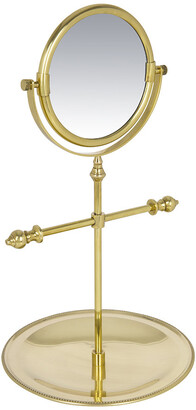 Luxe - Freestanding Mirror with Jewellery Tray - Antique Gold