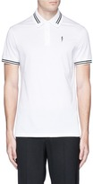 Neil Barrett Thunderbolt print polo shirt