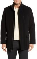 Cole Haan Men's Faux Fur Collar Wool Blend Parka