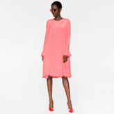 Paul Smith Women's Pink Bell-Sleeve Silk Dress