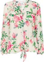 Wallis Ivory Waterlily Floral Print Tie Front Top