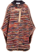 See by Chloe Bouclé-knit Cape - Burgundy