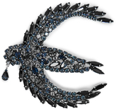 Sonia Rykiel Crystal-embellished swallow brooch