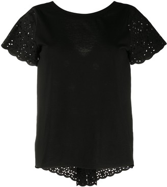 Semi-Couture broderie anglaise shortsleeved T-shirt