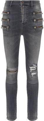 Unravel Project High-Waisted Skinny Jeans