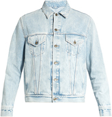 Gucci Loved-embroidered denim jacket