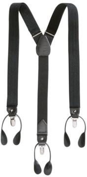 Club Room Men's Herringbone Convertible Suspenders, Created for Macy's