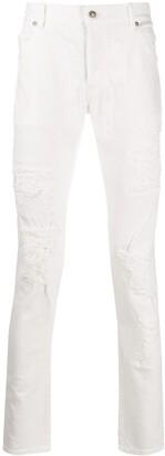Balmain Distressed Slim-Fit Jeans