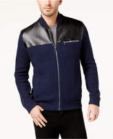 INC International Concepts I.n.c. Men's Mixed Media Sweater-Jacket, Created for Macy's