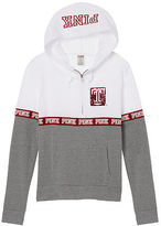 PINK Temple University Bling Perfect Half Zip Hoodie