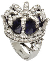 Betsey Johnson Betseys Purple Crown Cocktail Ring
