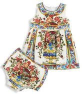 Dolce & Gabbana Baby's Two-Piece Floral Cotton Dress & Bloomers Set