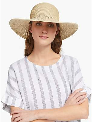 be56a958 John Lewis & Partners Packable Weave Floppy Sun Hat, Natural
