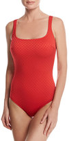 Gottex Diamond in the Rough One-Piece Swimsuit, Red