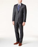 Lauren Ralph Lauren Charcoal and Blue Windowpane Slim-Fit Suit