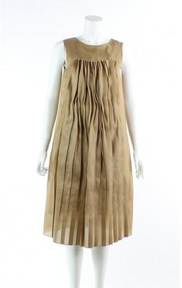 Marni Gold Silk Dresses