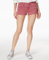 Hudson Kenzie Cotton Frayed Denim Shorts
