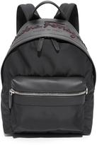 Salvatore Ferragamo Embroidered Nylon Backpack