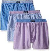 Original Penguin Men's 3-Pack Assorted Purple Woven Boxer