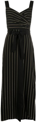 Emporio Armani Pinstriped Print Dress