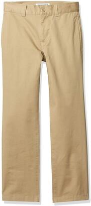 Amazon Essentials Straight Leg Flat Front Uniform Chino Pant Casual