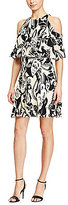 Polo Ralph Lauren Cold-Shoulder Printed Silk Dress