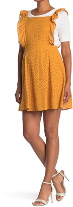 Hyfve Eyelet Lace Apron Dress
